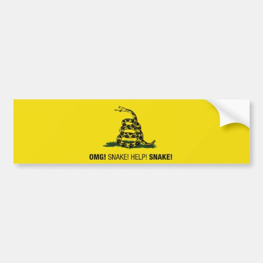 OMG! Snake! Help! Snake! bumper sticker