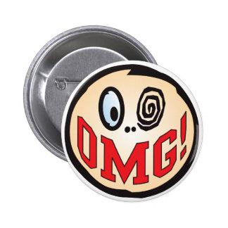 OMG Text Head 6 Cm Round Badge