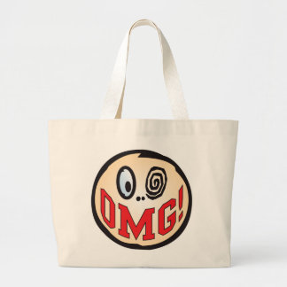 OMG Text Head Canvas Bag