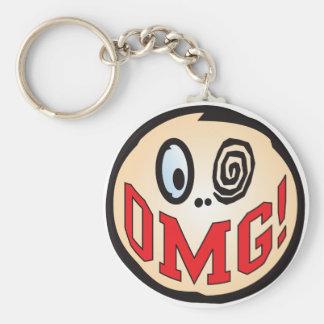 OMG Text Head Keychains