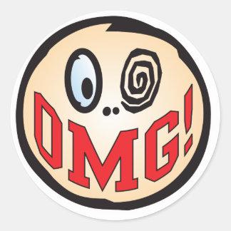 OMG Text Head Stickers