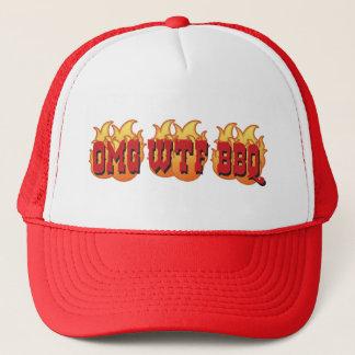 OMG WTF BBQ TRUCKER HAT