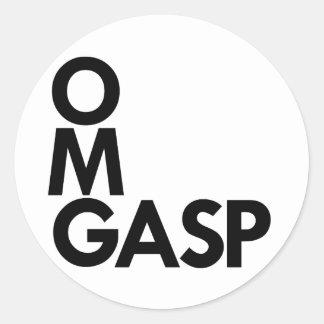 OMGasp Round Sticker