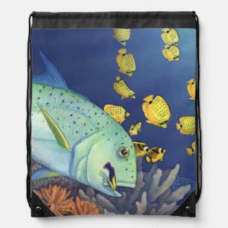 Omilu (Bluefin Trevally) Drawstring Bag
