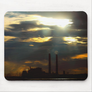 Ominous Power Plant Mouse Pads