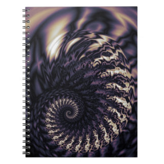Ominous Swirl Spiral Notebook