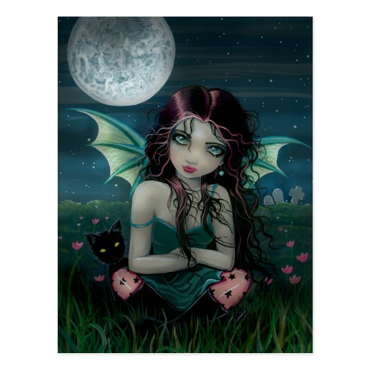Ominously Sweet Vampire Fairy Postcard