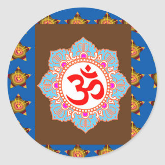 OmMANTRA Mantra Art Temple Hinduism Buddhism Bless Stickers