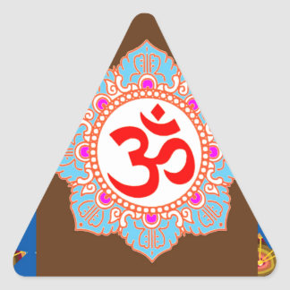 OmMANTRA Mantra Art Temple Hinduism Buddhism Bless Triangle Sticker