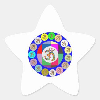 OmMantra OM MANTRA Coins Design Star Sticker