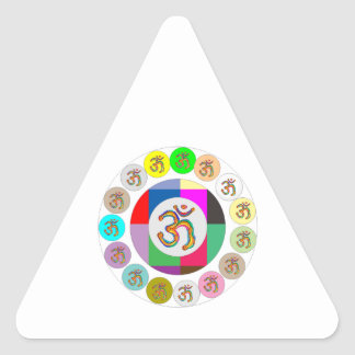 OmMantra OM MANTRA Coins Design Triangle Stickers