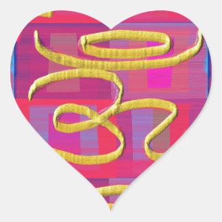 OmMantra OM MANTRA Universal Gold Heart Sticker