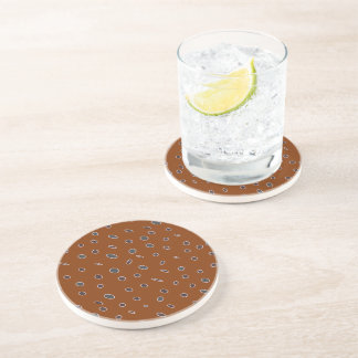 Omni dots brown, burgundy drink coasters