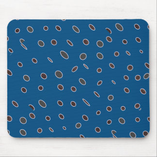 Omni dots manly blue brown pattern Dots02 Mouse Pad