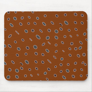 Omni dots manly brown burgundy pattern DOTS04 Mouse Pad