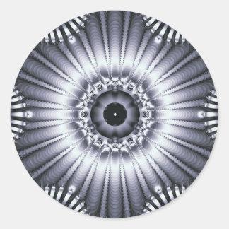 omniscience classic round sticker