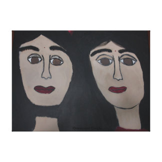 Omniscient Couple Canvas Gallery Wrapped Canvas