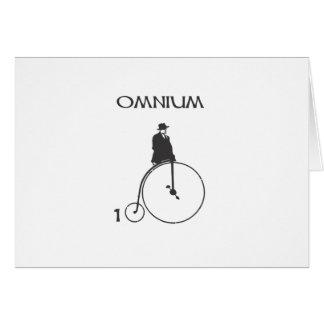 Omnium 100 greeting card