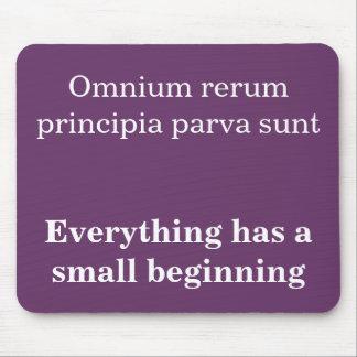 Omnium rerum principia mouse pad
