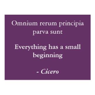 Omnium rerum principia postcard