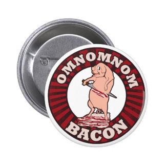 Omnom Bacon Advertising Parody 6 Cm Round Badge