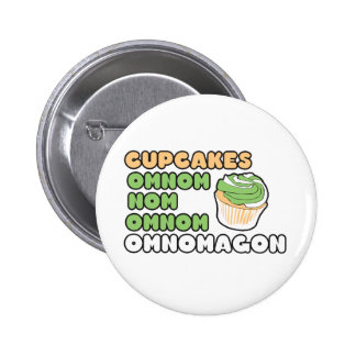 OMNOM Cupcakes Pinback Buttons