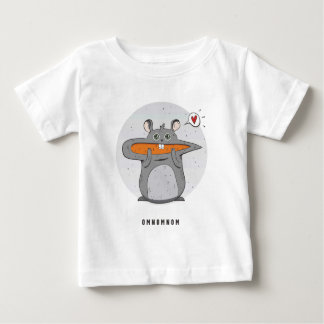Omnomnom Hamster with a Carrot for Baby Baby T-Shirt