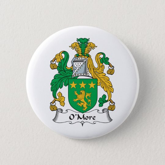 O'More Family Crest 6 Cm Round Badge