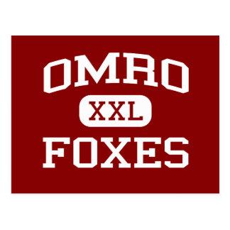 Omro - Foxes - Omro High School - Omro Wisconsin Postcard