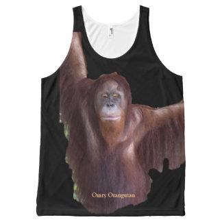 Omry Orangutan Animal Movie Star All-Over Print Tank Top