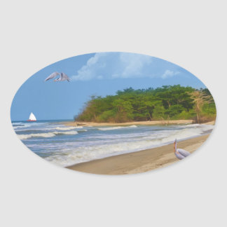 On a Beach Somewhere Sticker
