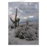 On a Desert Night So Long Ago Greeting Card