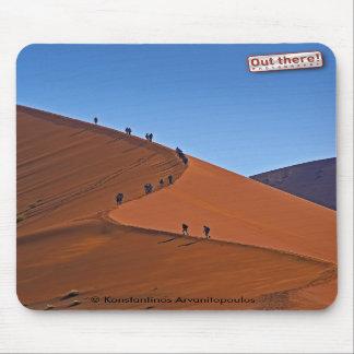 On a giant sand dune mousepad