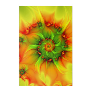 On A Hot Summer Day Abstract And Colorful Fractal Acrylic Print