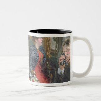 On a Journey to Beautiful Countryside, 1892 Two-Tone Coffee Mug