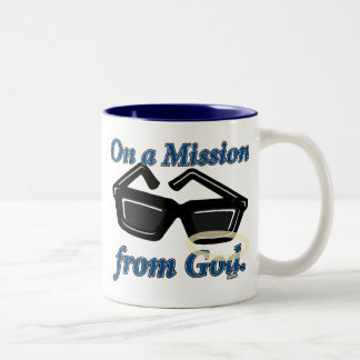 On a Mission from God Two-Tone Mug