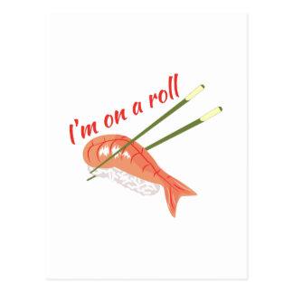 On A Roll Postcard