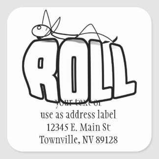On a Roll Square Sticker