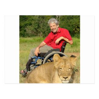 On a Walk with a Lion Postcard