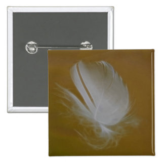 On A Wisp of a feather 15 Cm Square Badge