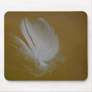 On A Wisp of a feather Mouse Pads