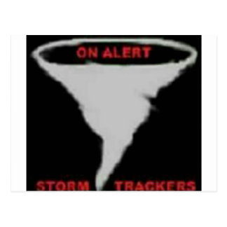 On Alert Storm Trackers Logo Postcard