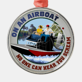 On an Airboat No One Can Hear You Scream Christmas Ornament
