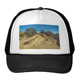 On Approach to Vasquez Rocks Mesh Hats