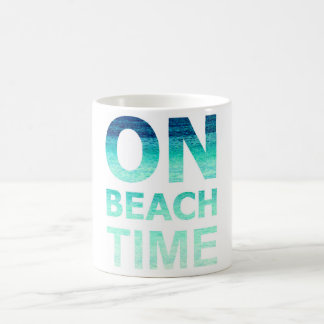 On Beach Time Typography Mug