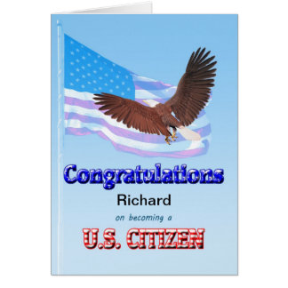 On becoming a US citizen Greeting Card