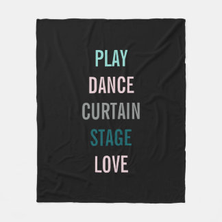 On Broadway I Love Theater Actor Fleece Blanket