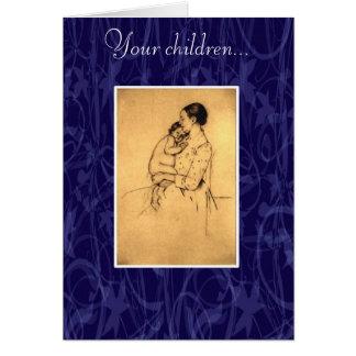 On Children by Kahlil Gibran Card