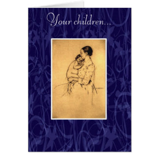 On Children by Kahlil Gibran Greeting Card
