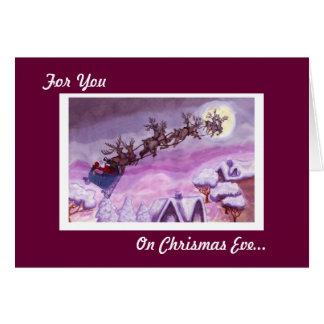 On Christmas Eve Feed Santa s Reindeer Card